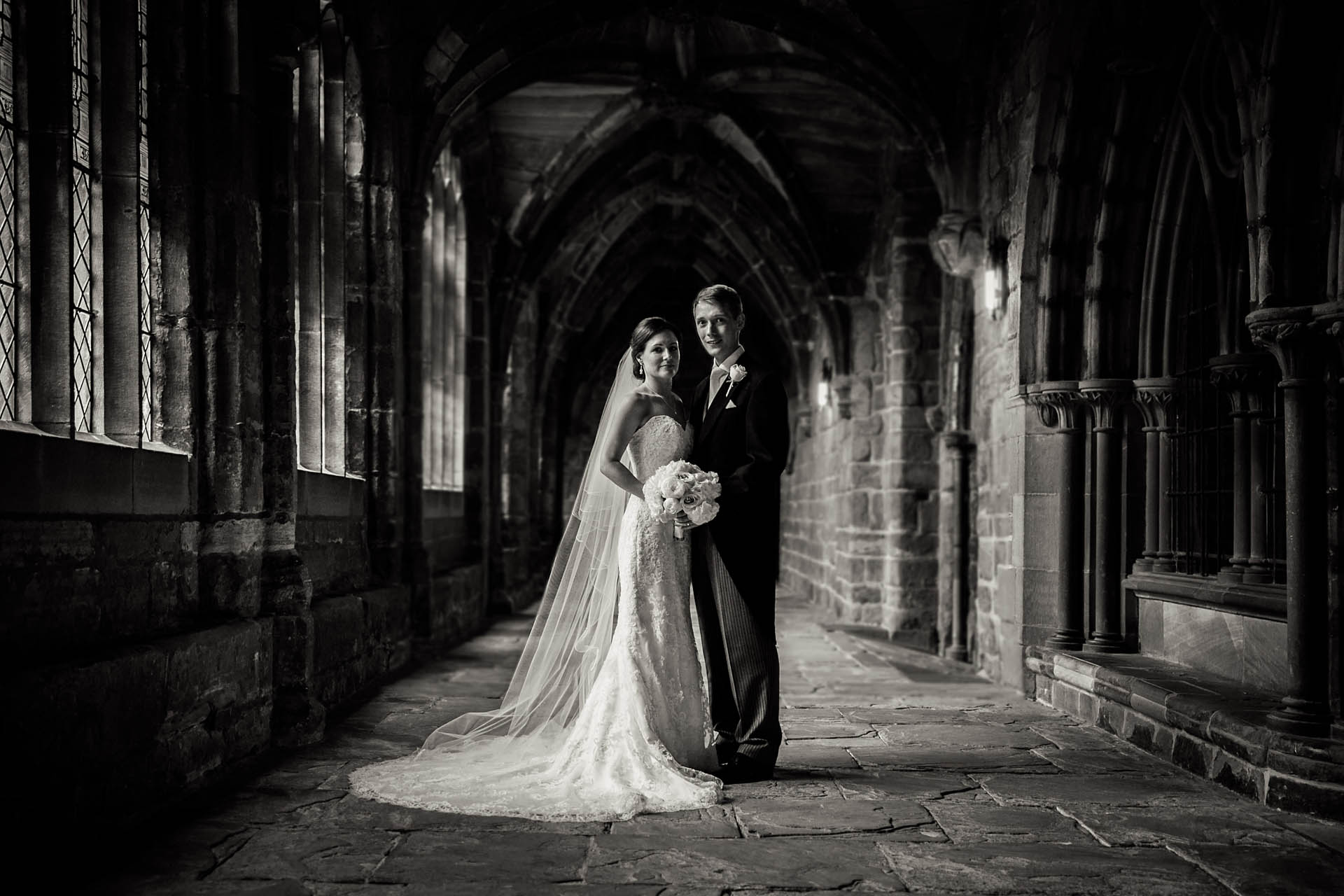 Chester Cathedral Wedding Portrait