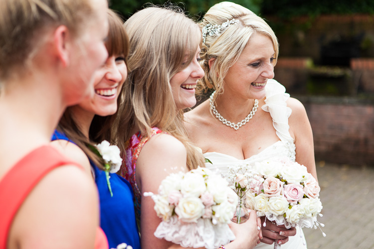 Bride and friends