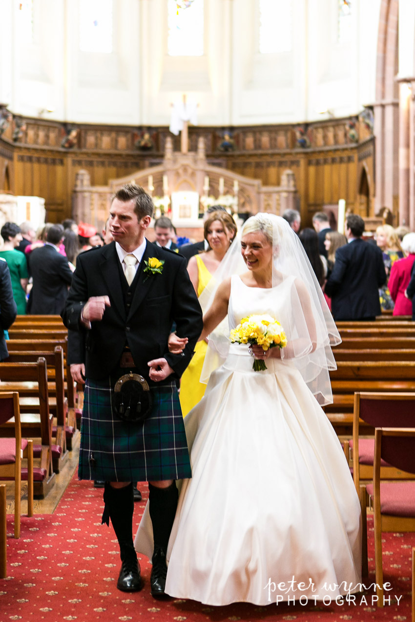 Waling down aisle at St Werburghs