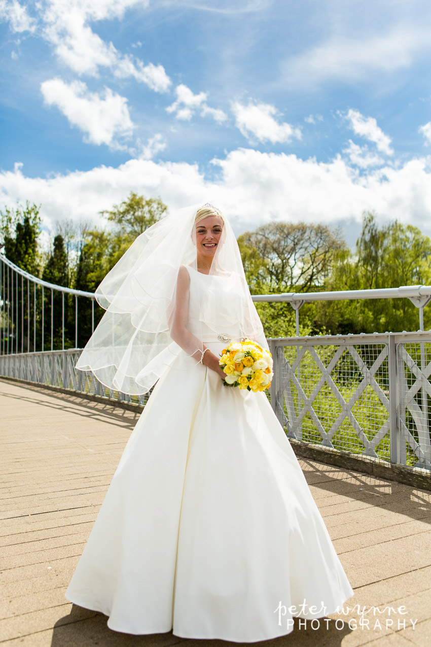 Bride on Queens Park Bridge