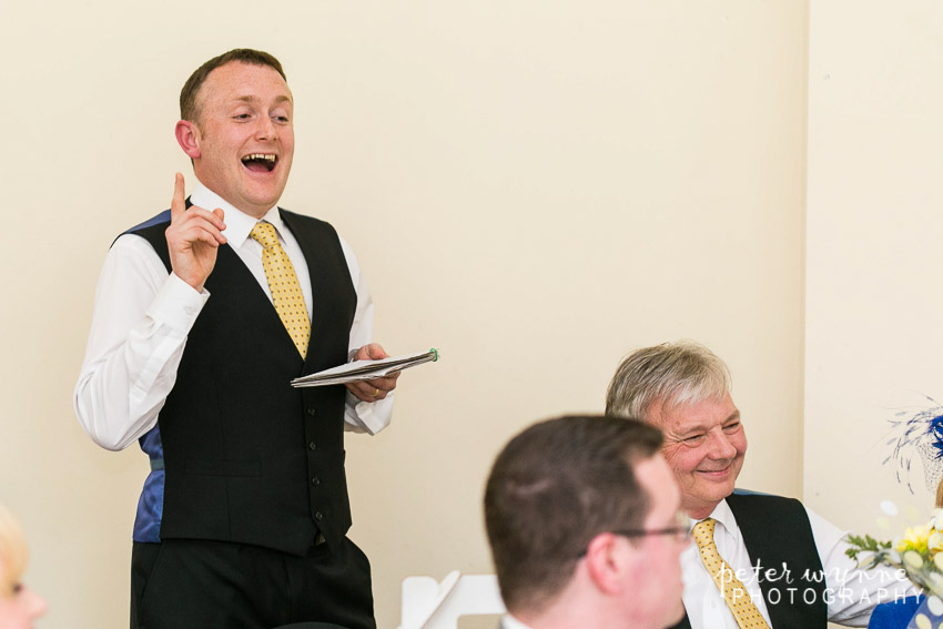Trafford Hall wedding speeches