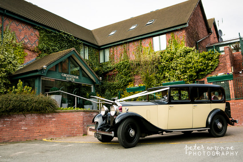 Chester Wedding cars at Grosvenor Pulford