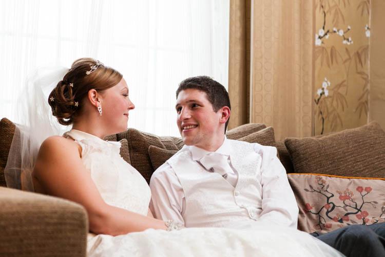 bride and groom informal portrait