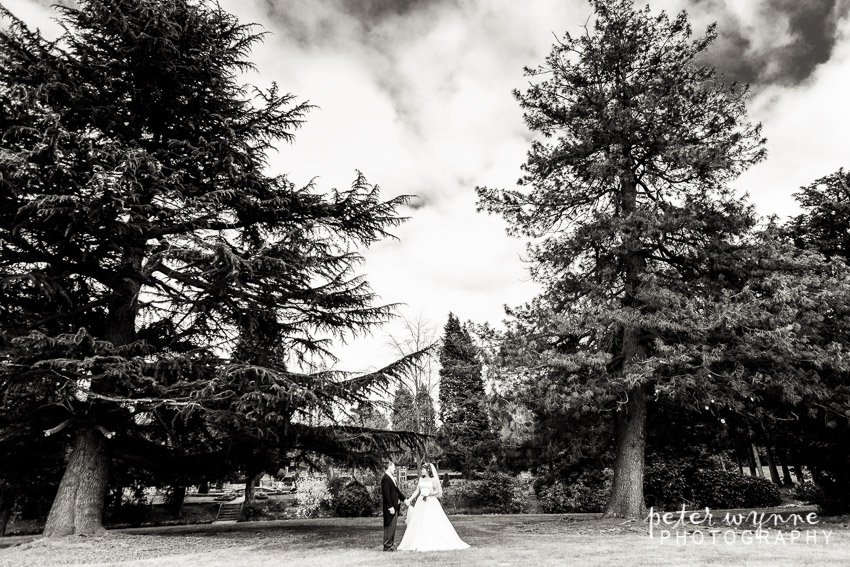 Bride and groom Mottram Hall
