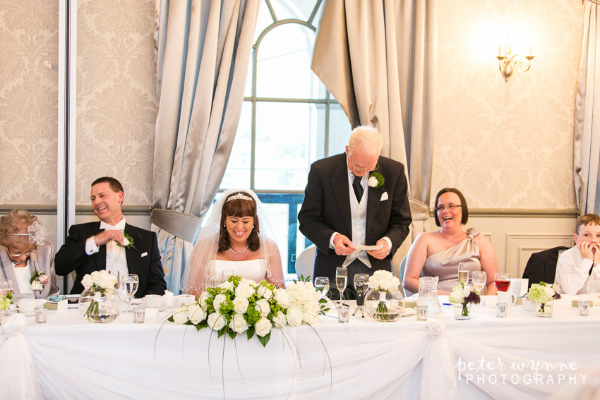 Mottram Hall wedding reception