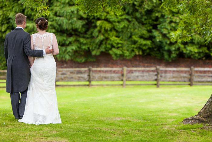Bride & Groom Walking Portrait