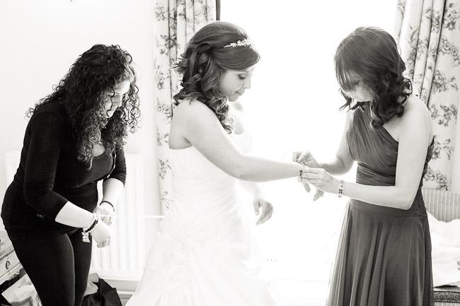Wedding Photographers Wrexham Bride getting ready