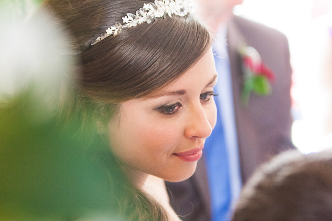 wedding Photographers Wrexham Bride close up