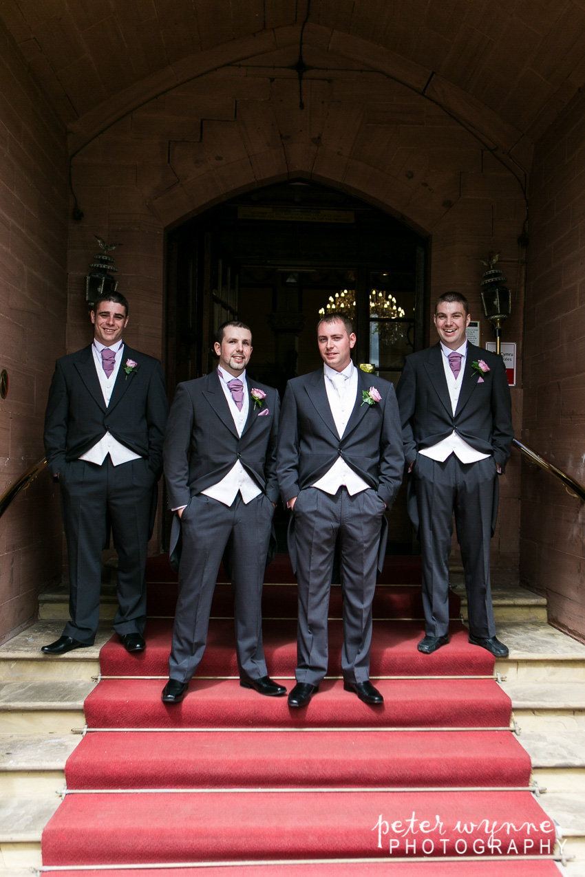 groomsmen at ruthin castle
