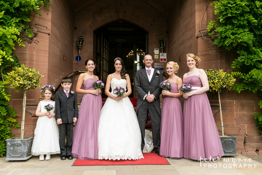 bridal group photo