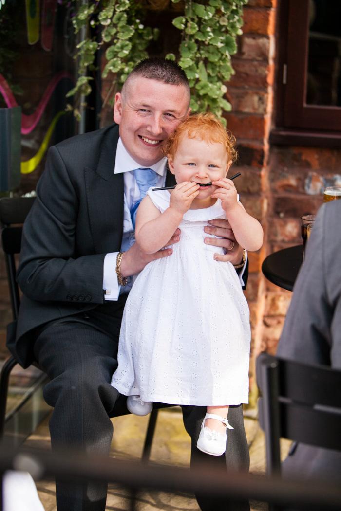 Groom & daughter