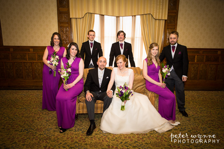 Bridal party group