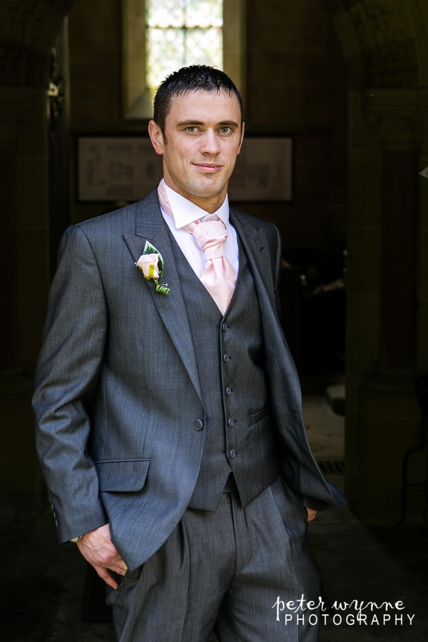 groom at church