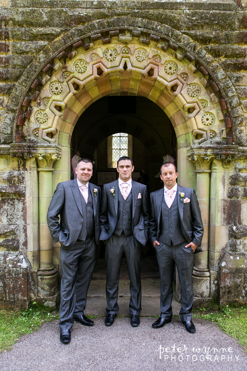 groomsmen at church