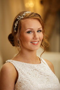 Bridal portrait at Wrenbury Hall